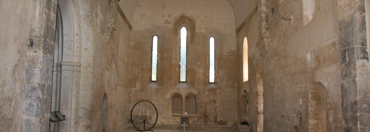 inside church ruin