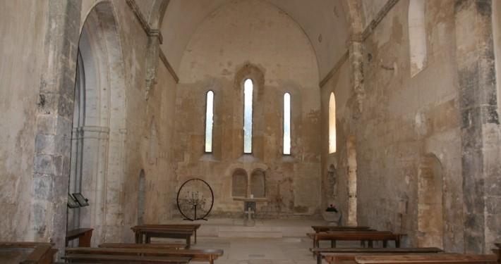 inside church ruin