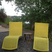 yellow deckchairs