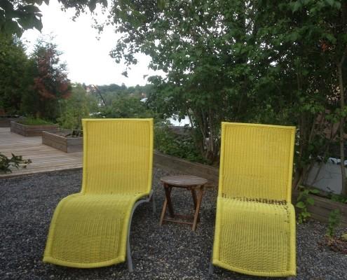 yellow deckchairs